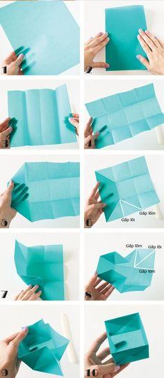 3 cách gấp hộp quà đựng kẹo đựng mứt ngày Tết