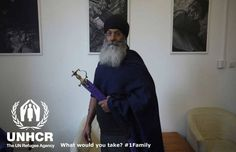 "Uptej would take his ceremonial sword. ""The sword would keep me safe and keep me close to my principles of dignity, respect, courage, valour and forgiveness."" Uptej from the UK - Visit 1 family - http://unhcr.org/1family/"
