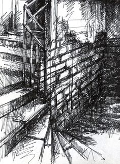 For Interior Design Refferal: 1209283248 A Level Art Sketchbook, Sketchbook Layout, Textiles Sketchbook, Sketchbook Drawings, Sketchbook Inspiration, Urban Landscape, Landscape Art, Portfolio Design, Decay Art
