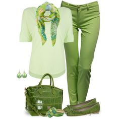 """""""Green & Free"""" by tufootballmom on Polyvore"""