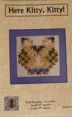 Pattern, Wall Hanging Pattern - Here Kitty, Kitty - Two Sizes using the Primitive Pinwheels and the Itty Bitty Twister Tools