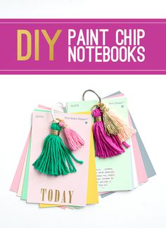 DIY Paint Chip Notebooks
