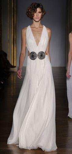 Dilek Hanif 2011 Couture - White halterneck evening dress