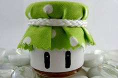Favor idea: jam jars inspired by the one-up mushroom