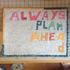 Always Plan Ahead Quilt by Jen Eskridge of ReannaLily Designs