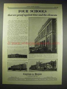 1929 Copper & Brass Ad - North Dallas High School