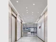 Buy: Instead Of Can Lights square recessed light Office Lighting, Modern Lighting, Lighting Design, Element Lighting, Cove Lighting, Ceiling Detail, Ceiling Design, Office Building Lobby, Office Lobby