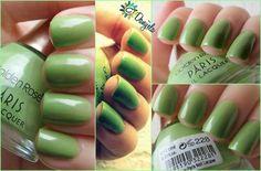 Golden Rose Paris #228 - #nails #polish #nailart #greennails - bellashoot.com