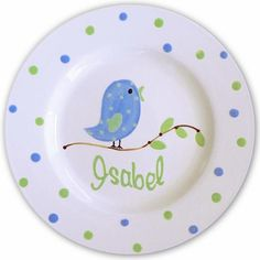 plate painting paint an owl on it with brantleys name