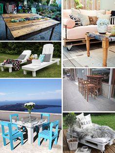 Pallet Furniture Projects Pallet DIY Outdoor Furniture Projects For Outdoor Living Spaces With Wooden Furniture Material Outside Furniture, Diy Outdoor Furniture, Pallet Furniture, Furniture Projects, Home Projects, Outdoor Decor, Pallet Designs, Pallet Ideas, Diy Pallet