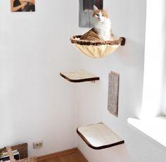 Arbre à chat mur d'escalade 4 pièces_0