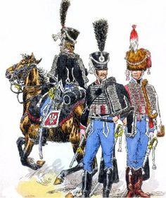 Les régiments de Hussards - 1er Empire et Nos Polonais 13eme hussards 1813