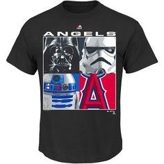 8a91c523606 Los Angeles Angels of Anaheim Star Wars Night 2015 Main Characters T-Shirt  - MLB