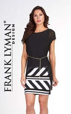 30effcb0808e Cute two-pieces effect summery dress by Frank Lyman (66330)