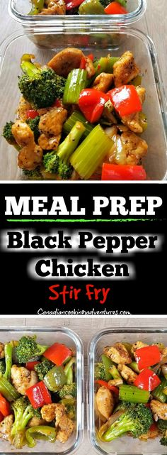 MEAL PREP Black Pepper Chicken Stir Fry #black #pepper #chicken #stirfry #asian, #broccoli #celery #chinese #peppers #MEALPREP #MEALPREPMONDAY #MEALPREPSUNDAY #MEALPREPS