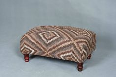 Handwoven Wool Kilim Foot stool banch sofa chair patchwork. £150.00, via Etsy.