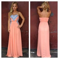 Loveee this long pink strapless dress. Very cute and casual to wear to many diff occasions