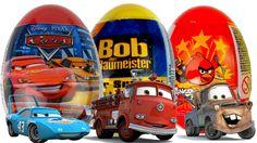 Surprise Eggs Kinder Surprise Disney Pixar Cars2 Surer Surprise Bob der ...