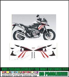 Kit adesivi decal stikers HONDA CROSSTOURER HRC (possibilité de personnaliser les couleurs)
