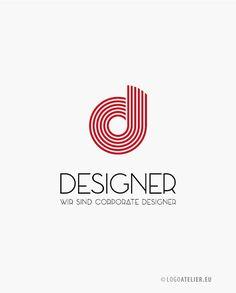 Ihr EXKLUSIVES Logo eleganter Buchstabe D