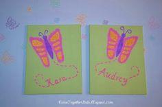Kids footprint art