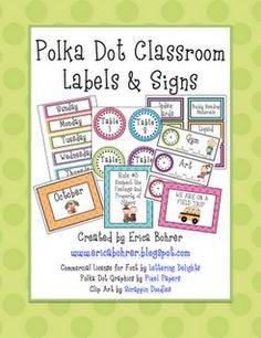 Classroom Decor: polka dots (via @Claraskn951 )