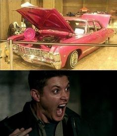 Nothing would be more terrifying to Dean than a pink Baby.
