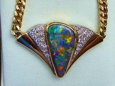 Solid Black Opal 18ct Solid Gold | eBay