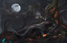 """K is for Kapre - """"Kapre"""" creature that could be characterized as a tree demon, but with more human characteristics. It is described as being a tall, brown, hairy male with a beard. Kapres are normally described as smoking a big cigar, whose strong smell would attract human attention."""