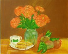 Items Similar To Original Painting From The Artist Still Life Acrylic Decor Design Rooms On Canvas Gift For Her Kitchen