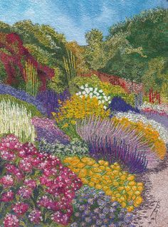 A stunning image from Stitched Textiles: Landscapes by Kathleen Matthews due out in April.