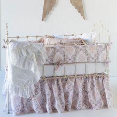 Bella Notte Crib Set 3-piece Zia Warm. 20% off Bella Notte bedding and lines now thru 10/15 with code BELLA20! #laylagrayce #bellanotte