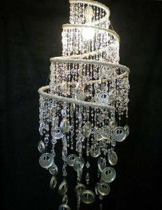 Recycled Tin End U0026 Bead Chandelier
