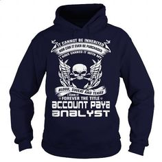 ACCOUNT PAYABLE ANALYST-BLOOD - design your own t-shirt #shirt maker #full zip hoodie