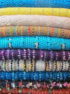 Some of my handwoven scarves. These will be sold at The Spring Show, Germantown (Memphis), TN. April 13- 21, 2012