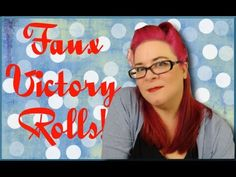 Faux Victory Rolls on Straight Hair - A Vintage Hair Tutorial