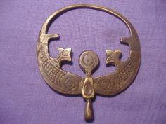 Ancient Islamic Bronze Large Pendant C.1400 AD