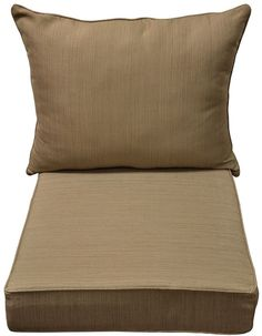 Natural Wheat Texture Replacement Cushion for Deep Outdoor Seat Patio Chair #AllenRoth