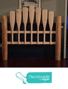 Nautical unfinished queen paddle headboard from Paddles Oars and More http://www.amazon.com/dp/B0181HJH98/ref=hnd_sw_r_pi_dp_ugBxwb03FNCW8 #handmadeatamazon