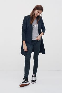 I love the idea of layering a blazer over denim. The juxtaposition of the fitted jeans and the menswear-inspired, slightly oversized blazer creates a super sexy, balanced look.