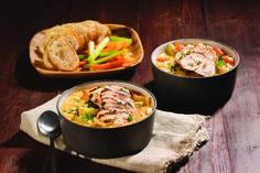 Soupe au poulet grillé à la bière | recettes.qc.ca