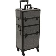 Hiker Prime 2in1 Hair Stylist Organizer Makeup Rolling Case Krystal Black ** Read more  at the image link.