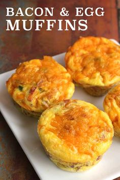 Bacon and Egg Muffins (low-carb, paleo, gluten-free) via @diabeticfoodie