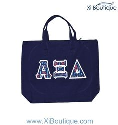 Cinco de Mayo Savings! Get our newest Navy Tote W/GEO Letters for 19.50 today!