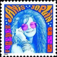 US Stamp - Music Icon Groundbreaking singer Janis Joplin an icon of the whose bluesy voice propelled her to the pinnacle of rock stardom, appears on this new US stamp in the Music Icons series. Issue Date: August 2014 Art Director/Designer: Antonio Alcala Buy Postage Stamps, Buy Stamps, Love Stamps, Woodstock, Motif Music, Commemorative Stamps, Hippie Man, Going Postal, Music Icon