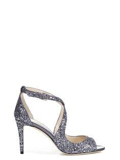 JIMMY CHOO | Jimmy Choo Jimmy Choo Emily 85 Glitter Sandals #Shoes #Sandals #JIMMY CHOO