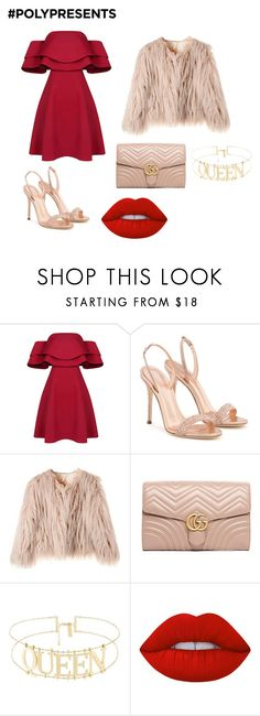 """#PolyPresents: New Year's Resolutions"" by datcualexandra ❤ liked on Polyvore featuring Giuseppe Zanotti, Gucci, Lime Crime, contestentry and polyPresents"