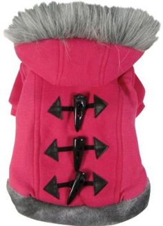 Dogit Style Dog Hoodie Sweater With Faux Fur Trimmed Hood Large Pink from Rolf C. Hagen (USA) Corp. - buydogsweaters.com