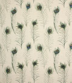 Save 32% on our Linen Peacock Feathers Contemporary Fabric. This Regular fabric is perfect for Curtains, Blinds & Upholstery.