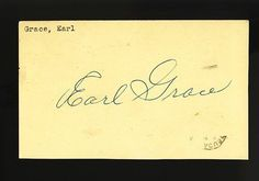 EARL GRACE SIGNED 2 CENT GPC PSA COA . $20.00. EARL GRACE2 CENT GPCDEBUT: 1929DECEASED: 1987GREAT AUTHENTIC BASEBALL COLLECTIBLE!! .AUTOGRAPH AUTHENTICATED BY PSA/DNA AUTHENTICATION WITH NUMBERED PSA/DNA STICKER ON ITEM AND MATCHING NUMBERED PSA/DNA CERTIFICATE OF AUTHENTICITY (COA) INCLUDED.PSA/DNA COA # 87308ITEM PICTURED IS ACTUAL ITEM BUYER WILL RECEIVE.ITEM IS SOLD AS IS, NO REFUNDS AND NO EXCHANGES.